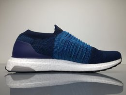 Wholesale Gyms Pictures - Dark Blue UltraBoost Uncaged Running Shoes for Men,Real Pictures Mens MID Slip-On Ultra Boost Sneakers Boots with Box