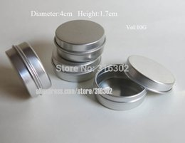 Wholesale Cosmetic Tin Packaging Wholesale - 100pcs 10G Aluminum Tin 10cc metal Cosmetic Packaging Container,1 3oz professional cosmetics Jars