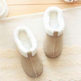 Wholesale Cotton Padded Slippers - Wholesale-Halluci winter leather cloth cotton padded shoes Home Furnishing super warm indoor waterproof antiskid slipper Japanese minimali