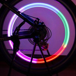 Wholesale Mtb Stem Cap - Wholesale- High Quality Ultra Bright 1pc Cool Bike Bicycle Cycling MTB Wheel Tire Air Valve Stem Cap Multi Color LED Light Bike Accessories
