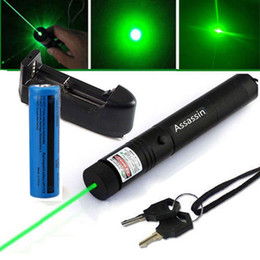 Wholesale Military Laser Beam Pointer - Burning Powerful Green Laser Pen Pointer 5mw 532nm Visible Beam Cat Toy Military Green Laser+18650 Battery+Charger