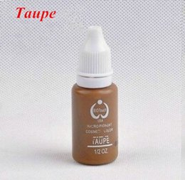 Wholesale Tattoo Ink Taupe - Wholesale- 2 piece Taupe Eyebrow Embroidery Tattoo Makeup Pigment & Tattoo Ink Set Permanent Makeup Pigment 15ml