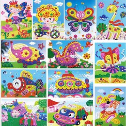 Wholesale Baby Stickers Craft - 10pcs set EVA mosaic sticker children's handmade Eva Foam Stickers Craft Puzzle Baby educational early learning toys