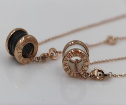 Wholesale Roman Numerals Silver Necklace - Wholesale-NEW Roman numerals Sihuan arc version of the popular black and white ceramic necklace Pendants gold rose silver plating free shi