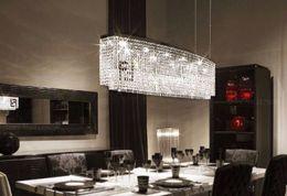 Wholesale Crystal Pendant Light Steel - Modern K9 crystal Pendant Lights living room LED lamps LLFA