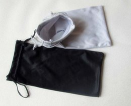 Wholesale Microfiber Pouch Wholesale - 100PCS 9*17cm Black Grey Microfiber Sunglasses eyewear Pouch Spectacle Glass Cloth Bag Pouch custom glasses pouch