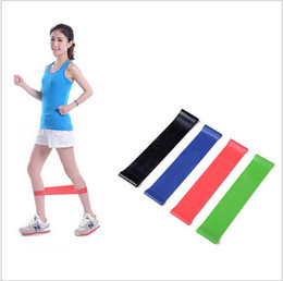 Wholesale Wholesale Pilates Ring - Yoga exercise loop band latex tension bands slim leg stretch bands rope Pilates ring Fitness Loop yoga circles