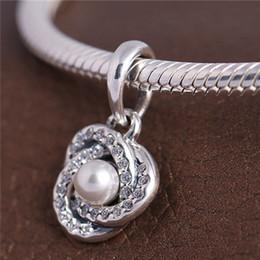 Wholesale Silver 925 Knot Bracelet - 2017 Spring 925 Sterling Silver Luminous Love Knot Dangle Charm Bead Fits European Pandora Jewelry Bracelets Necklaces & Pendant
