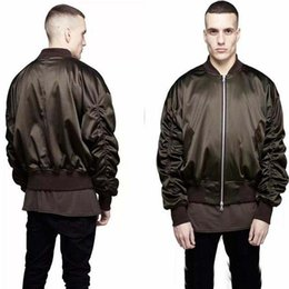 Wholesale Color Represent - Cool Exclusive Newest MA1 Bomber Jacket 2017 Fashion Men Military Style Solid Color Represent Hip Hop Flight Jackets