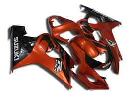 Wholesale Buy Fairings - New ABS motorcycle Fairing Kits 100% Fit For Suzuki GSXR600 GSXR750 2004 2005 600 750 04 05 K4 bodywork set hot buy orange black white
