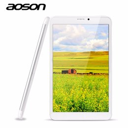 Wholesale Tablet Dual Core 1g Ram - Wholesale- New Android 5.1 8 inch 3G phone call Tablet PC Aoson M86TG Phablet MTK8321 1G RAM 8G ROM IPS Screen GPS Dual Cameras Quad Core
