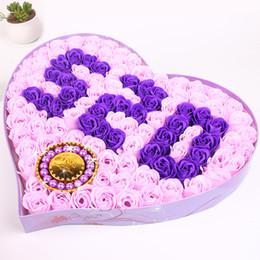 Wholesale Rose Wedding Ideas - 2017 Hot 520+ Bracelet Rose Flower Soap Gift Ideas 520 Day Gift Birthday Gift Wedding Decorations