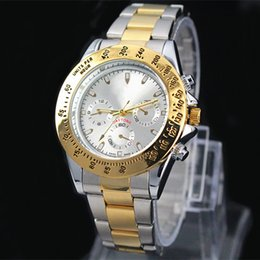 Wholesale Designer Batteries - Classic model man aaa Watch Luxury gold Stainless steel Quartz wristwatches Famous designer popular modern watch Male clock High quailty