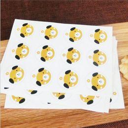 Adesivos para embalagens de alimentos on-line-Cat Dog Design Urso Selos Etiqueta Do Alimento Adesivos de Presente para o Presente de Casamento Bolo De Cozimento De Vedação Etiqueta para Embalagem Artesanal