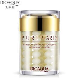 2019 essence de perle En gros de haute qualité Pure Pearl Cream Acide Hyaluronique Hydratation en profondeur Crème Essence Soins du Visage 60g Livraison gratuite essence de perle pas cher