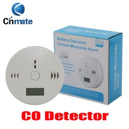 Wholesale Home Gas Detector - 5p CO Carbon Monoxide Tester Alarm Warning Sensor Detector Gas Fire Poisoning Detectors LCD Display Security Surveillance Home Safety Alarms