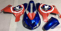 2019 zx14 carenados rojos Kits de cuerpo para Kawasaki Zx14r 2011 Carrocería Zx14 Zx-14r 2007 Blue Red STAR Kits de carenado ZZR 1400 2006 2006 - 2011 zx14 carenados rojos baratos