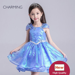 Wholesale Flash For Beads - childrens clothing Dream Castle Dressy Gown high quality flash fabric tutu style dresses for kids online shopping wholesale goods china