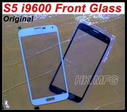 Wholesale S4 Oem Glass - s5 i9600 orginal Front Glass cover Original For Samsung S5 I9600 Outer screen glass OEM digitizer cover