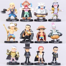Wholesale Hot Toys Luffy - NEW hot 12pcs set 5cm One piece Akakami no shankusu mini luffy Defeated by collectors action figure toys Christmas toy