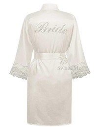 Wholesale Wholesale Plus Size Satin Robes - Wholesale- LP004 Wedding Bride Bridesmaid Floral Robe Satin Rayon Bathrobe Nightgown For Women Kimono Sleepwear Flower Plus Size