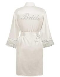 Wholesale Wholesale Sleepwear For Women - Wholesale- LP004 Wedding Bride Bridesmaid Floral Robe Satin Rayon Bathrobe Nightgown For Women Kimono Sleepwear Flower Plus Size