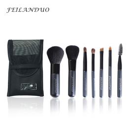 Wholesale Wood Soap - Feilanduo Professional Makeup Brush Set 7pcs High Quality Wool Fiber Make Up Tools Gift with Wash Soap