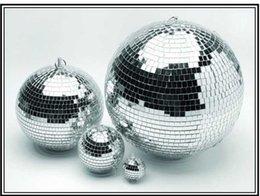 Wholesale Stage Lighting Shop - Wholesale-D25cm-D50cm glass rotating mirror disco ball disco DJ party lighting home party stage KTV Bars shop X'mas decoration balls