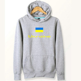 Wholesale Work Shirts Xxl - Ukraine flag hoodies Nation out work sweat shirts Country fleece clothing Pullover sweatshirts Outdoor sport coat Brushed jackets