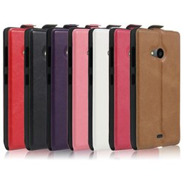 Wholesale Dual Sim Phone Luxury - For Nokia Lumia 535 Case Luxury PU Leather Case For Microsoft Lumia 535 Dual SIM Flip Cover Phone Case
