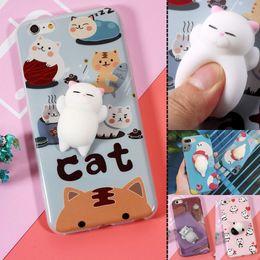 Wholesale Cat Iphone 3d - 3D Squishy Toy Kneading Cute Cat i6s i6plus i7 i7+ Silicone Case for iPhone 6 6s 6plus 6splus 7 7plus