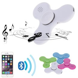 Wholesale Light Music Top - LED bluetooth music Fidget Spinner Hand Spinners Top Quality Triangle Finger Spinning Top Colorful Decompression Fingers Tip Tops in stock
