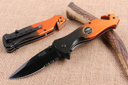 Wholesale Sog Knives Sale - Hot Sale SOG Tactical Folding Knife 5CR15MOV 57HRC Serrated Titanium Aluminum Camping Hunting Survival Pocket Knife Gift Free DHL F921L