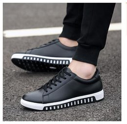 Wholesale lace leather skirts - 2017 Spring and Autumn new men's shoes students with small leather shoes casual casual skirt shoes men size 39-44 Free Shipping