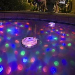 Wholesale float tanks - Underwater Fountain Light Show Waterproof Disco Float Spa Bathtub Lights Swimming Pool Disco Light DJ Lamp Pond Fish Tank Aquarium LED Lamp
