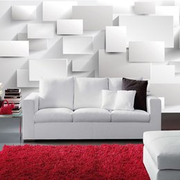 Wholesale Black Wall Boxes - Wholesale-Customized Modern 3D Stereoscopic Large Mural Wallpaper Box 3D Cube Wall Paper Living Room Sofa Bedroom Backdrop Mural Wallpaper