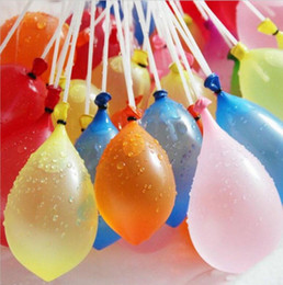 Wholesale Balloon Fight - Water Balloon Fight Game Rapid Injection Water Ball Bomb Tied Kid Fun1set=3bunches=111balloons water Party toy KKA1891