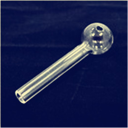Wholesale Wholesale Straight Tube Glass - Wholesale Pyrex Glass Oil Burner Pipe Clear Glass Oil Burner Glasses Tube Glass Pipe Oil Nail Thick Clear Glasses