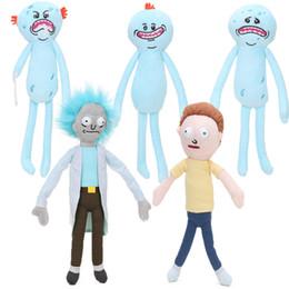 Wholesale Video 24 - 5styles 5pcs 24-30cm Rick and Morty Happy Sad Foamy Meeseeks Plush Toys Soft Stuffed Animal Dolls For Kids Gift juguetes de peluche bebe