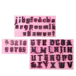 Bolos letras números on-line-3 pçs / lote gótico capital e pequeno inglês letras e números fondant molde do bolo de chocolate molde para a ferramenta de decoração de cozinha