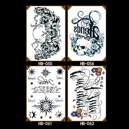 Pegatinas de tatuaje de pulsera online-Tatuajes temporales Body Large Bracelet Art Fake Tattoo Stickers Waterproof