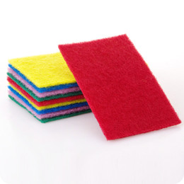 Wholesale Cheap Rags - Color scouring pad, 1 packs, 10 pieces, kitchen supplies, high quality, cheap cleaning tools, rags, cleaning cloth