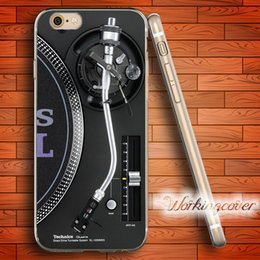 Wholesale iphone 5c silicone - Fundas Technics Turntables DJ Soft Clear TPU Case for iPhone 6 6S 7 Plus 5S SE 5 5C 4S 4 Case Silicone Cover.