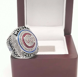 Wholesale Wooden Rings Fashion - Fashion fans gifts 2016 Bryant Chicago Cubs world Championship Rings with wooden box Size 8-13