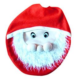 Wholesale Snowman Ornaments Sale - Wholesale- Hot Sale 1Pcs Snowman Toilet Seat Cover Bathroom Christmas Xmas Home Decoration For Christma Fancy Santa Claus Toilet Seat Cover