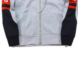 Wholesale Tracksuit Men Plus Size - 2017 Autumn new ture brand sleeve SUP hoodie color matching mens designer hoodies blouses mens tracksuit clothes crop top plus size