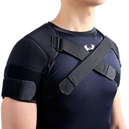 Wholesale Shoulder Back Brace Posture - Wholesale- Kuangmi Removable Shoulder Support Belt Flexible Back Belt Correct Rectify Posture Adjustable Wrap Bnadage Sports Shoulder Brace
