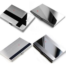 Wholesale Steel Aluminium Case - Storage Box organizer Steel Silver Aluminium Business ID Name Credit Card Holder Case Cover Quality First