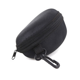 Wholesale Hook Frame - Wholesale Black Sunglasses Box with hook Hanger Zipper Glasses Case for Big Frame Hot Sale free shipping