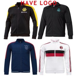 Wholesale 17 Club America Jacket Soccer Jersey Retro Football Shirts Equipment Long Sleeve Man tracksuits AC milan Real Madrid Ajax jacket Uniform